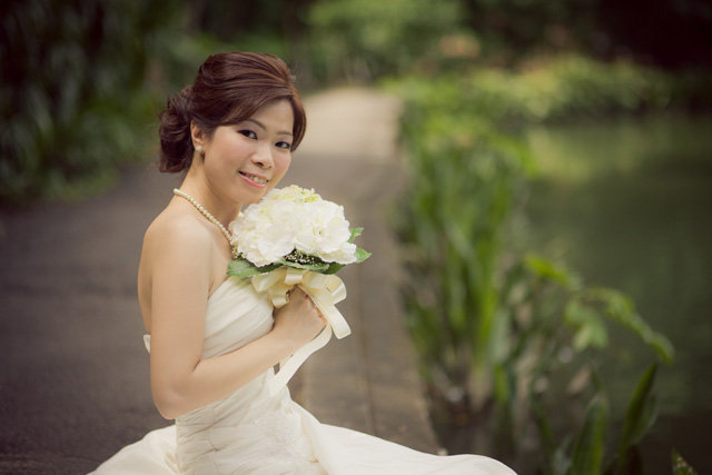 Kelly's Pre-Wedding Makeup by TheLittleBrush Singapore Makeup Artist