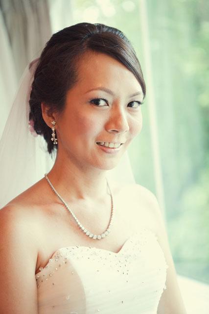 Clara's Wedding Makeup by TheLittleBrush Singapore Makeup Artist