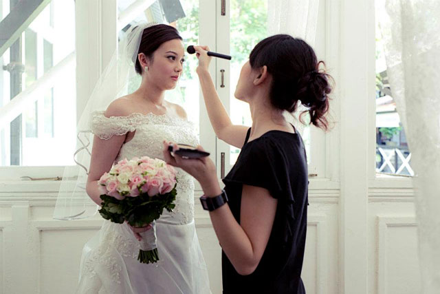 Ikka's Wedding Actual Day Makeup and Hair by TheLittleBrush Singapore Makeup Artist