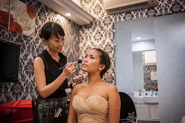 Jane's Wedding Actual Day Makeup and Hair by TheLittleBrush Singapore Makeup Artist