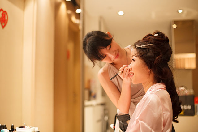 Shan's Wedding Actual Day Makeup and Hair by TheLittleBrush Singapore Makeup Artist