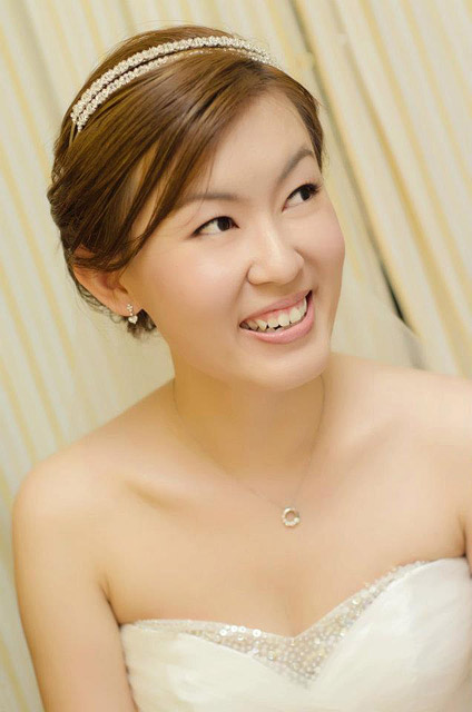 Han Han's Wedding Day Bridal Makeup and Hairstyling by Jovie Tan from TheLittleBrush Makeup