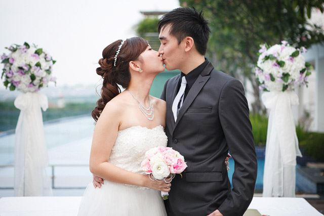 Stephanie's Solemnization Makeup and Hair by Jovie Tan from TheLittleBrush Singapore Makeup Artist
