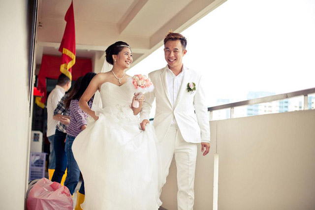 Xiao Han's Wedding Day Bridal Makeup and Hairstyling by Jovie Tan from TheLittleBrush Makeup.
