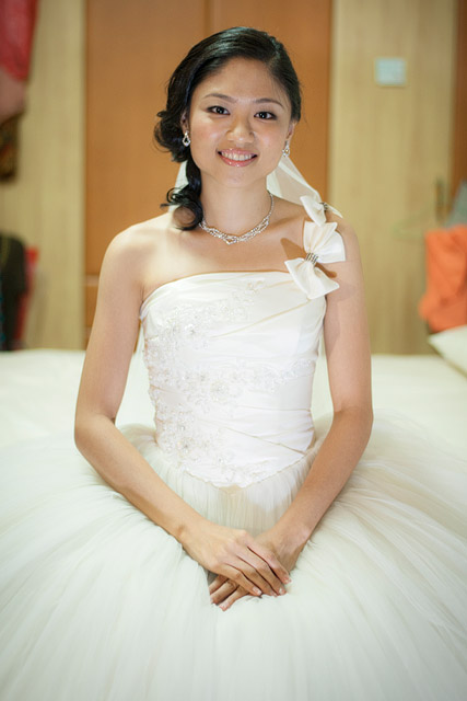Chuan Tin's Wedding Day Hair and Makeup by Jovie Tan from TheLittleBrush Makeup.