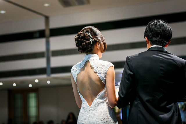 Li Xin's Wedding Hair and Makeup by Jovie Tan from TheLittleBrush Makeup Singapore.