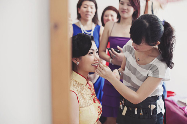 Carilyn's Wedding Hair and Makeup by Jovie Tan from TheLittleBrush Makeup Singapore.