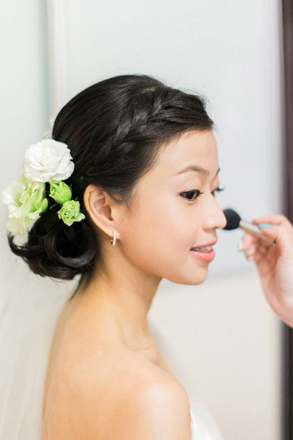 Jiamin's Wedding Day Makeup and Hair by Jovie Tan from TheLittleBrush Makeup Singapore.