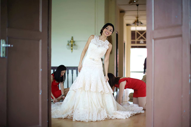 Joelle's Wedding Day Makeup and Hair by Jovie Tan from TheLittleBrush Makeup Singapore.